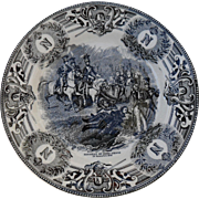 Boch Freres Military Napoleonic Battles Bataille du Somo Sierro Cabinet Plate