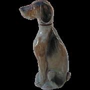 Vintage Ramses Germany Weimaraner Figural Dog Decanter Figurine