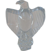 Baccarat Lead Crystal Eagle Figurine Sculpture Paperweight