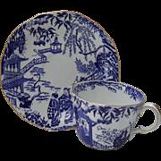 Royal Crown Derby Blue Mikado Teacup Saucer