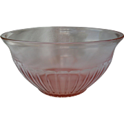 Vintage Pink Depression Glass Salad Serving Bowl