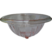 Vintage Cambridge Pink Depression Glass Mixing Bowl Rolled Rim