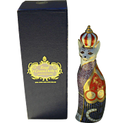 Royal Crown Derby Royal Cat Abyssinian Figurine with Box 1987