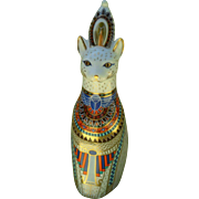 Royal Crown Derby Royal Cat Egyptian Figurine Paperweight