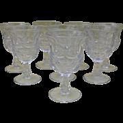 Set of Eight EAPG McKee Water Glass Argus Pattern 1859