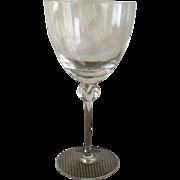 Daum France Nancy Bolero Water Goblet