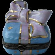 Cheerful Limoges France Birthday Gift Peint Main Trinket/Pill Box Signed LD