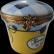 Exquisite Rochard Limoges Honey Pot Bee Jar Pill Trinket Box