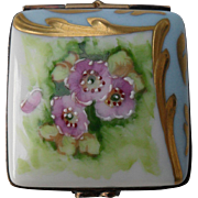 Vintage Handpainted Limoges Floral La Gloriette Pill Trinket Box Limited Ed 194/250