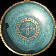 Art Deco Gustavsberg Sweden Josef Ekberg Gold Lustre Green Console Bowl 1900's