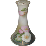 Vintage Hand Painted Pink and White Roses Hatpin Holder Germany