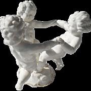 Large Hutschenreuther Karl Tutter Figurine Trio of Cherubs Putti Angels Ring Around the Rosey