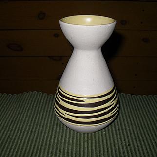 Vintage West Germany Mod Keramik 1970's Yellow Brown Vase