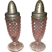 Westmoreland Pink Depression Glass English Hobnail Salt and Pepper Shakers
