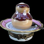 Vintage La Gloriette HP Limoges Chocolate Dessert Pill Box