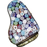 Vintage Millefiori Murano Glass Piano Trinket Box Paperweight