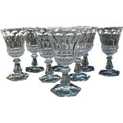 Set of Eight 19th Century Wine Glasses