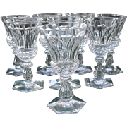 Set of Eight 19th Century Cordial Wine Glasses