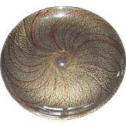 Venetian Italian Art Glass Copper and Gold Aventurine Plate Charger