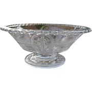 EAPG Richards & Hartley Pattern Glass Venus & Cupid Footed Bowl