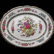"Paragon Tree of Kashmir Platter 13 1/4"" Vibrant Florals Garden Urn"