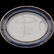 Elegant Theodore Haviland Art Deco Limoges Mosaic Meat Platter