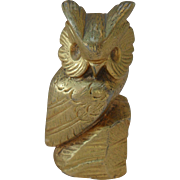 Brass Owl Italy Paperweight