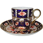 Vintage 1927 Royal Crown Derby Imari 2451 Espresso Cup and Saucer