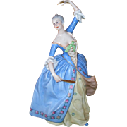 Beautiful Capodimonte Made in Italy Lady Dancer Formal Figurine