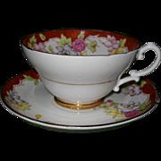 Lovely Vintage Stanley England Floral Teacup and Saucer