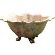 Royal Bayreuth Tapestry Rose Footed Bowl