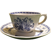 Arabia Finland Blue Finn Flowers Demitasse Espresso Cup and Saucer