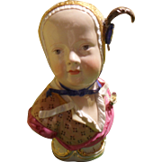 Antique Meissen Porcelain Bust Figurine Bourbon Child