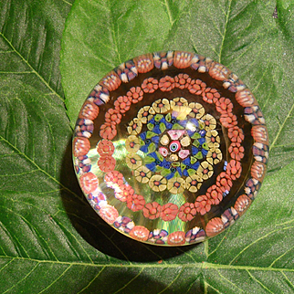 Baccarat France Millefiori Concentric Art Glass Paperweight