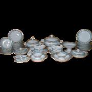 Vintage Childs Porcelain Toy Miniature Dish Dinner Make Believe Service