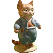 Beswick Beatrix Potter Tom Kitten Figurine Gold Oval 1948