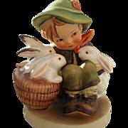 "MJ Hummel ""Playmates"" Boy with Bunny Rabbits 58/0 Figurine Western Germany"