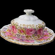 Royal Albert Serena Pink Roses Floral 839329 Round Butter Dish
