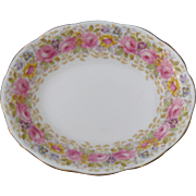 "Royal Albert Serena Pink Roses Floral 839329 9"" Open Vegetable Bowl"