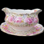 Royal Albert Serena Pink Roses Floral 839329 Gravy Sauce Boat Hampton