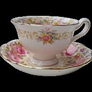 Royal Albert Serena Pink Roses Floral 839329 Teacup and Saucer Avon Round