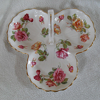 Hammersley England Morgan Rose Three Part Serving Dish