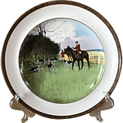 Vintage Copeland Lionel Edwards The Last Draw No. 12 Fox Hounds Equestrian Dinner Plate