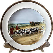 Vintage Copeland Lionel Edwards The Kill No. 11 Fox Hounds Equestrian Dinner Plate
