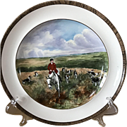 Vintage Copeland Lionel Edwards Drawing The Dingle No. 10 Fox Hounds Equestrian Dinner Plate