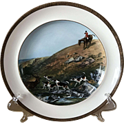 Vintage Copeland Lionel Edwards Stag at Bay No. 9 Fox Hounds Equestrian Dinner Plate