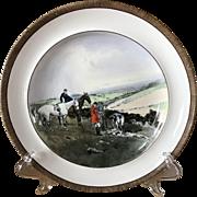 Vintage Copeland Lionel Edwards Gone to Ground No. 8 Fox Hounds Equestrian Dinner Plate