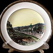 Vintage Copeland Lionel Edwards Homeward No. 7 Fox Hounds Equestrian Dinner Plate