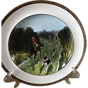 Vintage Copeland Lionel Edwards The Find No. 6 Fox Hounds Equestrian Dinner Plate