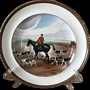 Vintage Copeland Lionel Edwards A Check No. 4 Fox Hounds Equestrian Dinner Plate